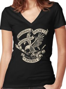 National Machete Association - Official Seal Women's Fitted V-Neck T-Shirt