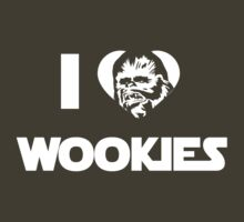 I <3 Wookies Graphic - White ink by VolkWear