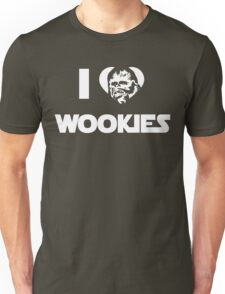 I <3 Wookies Graphic - White ink Unisex T-Shirt