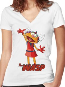 Zoe the Wasp Women's Fitted V-Neck T-Shirt