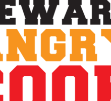BEWARE ANGRY COOK! chef cooking swearing  Sticker
