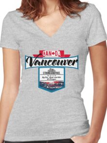 Vancouver Canada Women's Fitted V-Neck T-Shirt