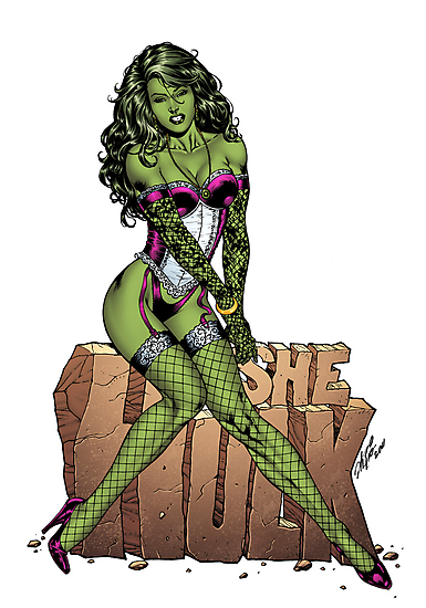 She-Hulk Tribute Art by Al Rio (R.I.P.) by alrioart