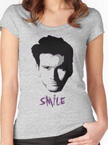 Kilgrave: Smile (black on light colors) Women's Fitted Scoop T-Shirt