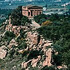 Temple of Concord from nr Temple of Juno Agrigento Sicily 198403260023 by Fred Mitchell