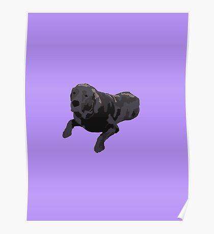 Purple Chocolate Lab Poster