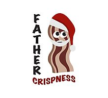 Father Crispness Cute and Funny Santa Bacon Photographic Print