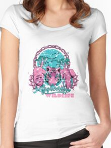 Agressive wildlife Women's Fitted Scoop T-Shirt