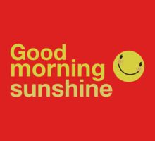 Good morning sunshine with happy face  One Piece - Long Sleeve