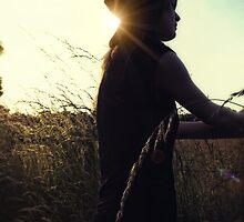 The Silhouetted cowgirl by Nicola Smith