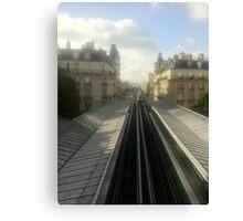 Subway in paris Canvas Print