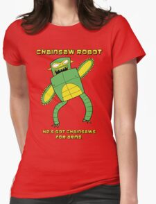 Chainsaw Robot -- He's got chainsaws for arms -- green yellow T-Shirt