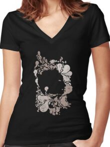 Herman Rorschach and the Little Creatures Women's Fitted V-Neck T-Shirt