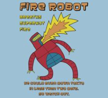 Fire Robot -- Breaths super hot fire -- colour by DiabolickalPLAN
