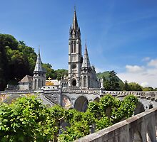Rosary Basilica, Lourdes, France by Graham Taylor