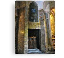 Inside the Rosary Basilica, Lourdes Canvas Print