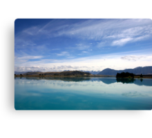 Lake Ruataniwha, New Zealand landscape 2 Canvas Print