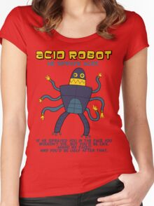 Acid robot - he sprays acid! -- colour Women's Fitted Scoop T-Shirt