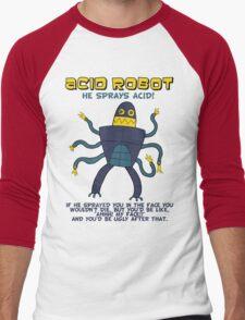Acid robot - he sprays acid! -- colour Men's Baseball ¾ T-Shirt