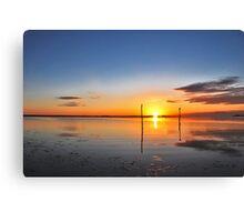 Sunrise above Lake Grevelingen Canvas Print