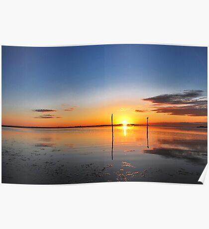 Sunrise above Lake Grevelingen Poster