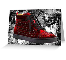 Red Spike Sneaker Greeting Card