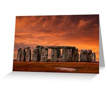 Stonehenge Sunset Greeting Card