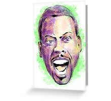 Chris Rock in your face Greeting Card