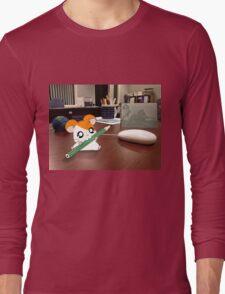 Hamtaro on my desk Long Sleeve T-Shirt