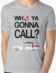 Who ya gonna call? Mens V-Neck T-Shirt