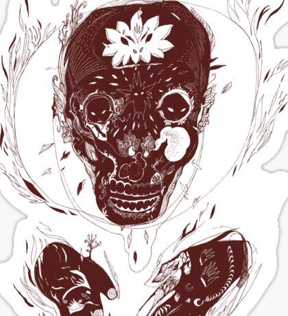 skull on fire Sticker