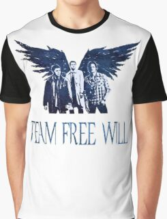 Team Free Will in BLUE Graphic T-Shirt