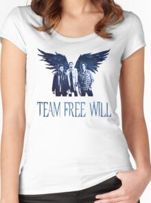 Team Free Will in BLUE Women's Fitted Scoop T-Shirt
