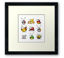 Cartoon insects Framed Print