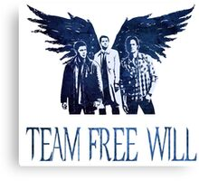 Team Free Will in BLUE Canvas Print