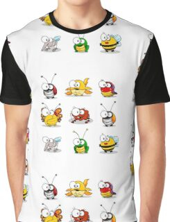 Cartoon insects Graphic T-Shirt