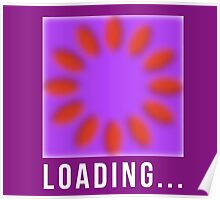 Loading, motion illusion, cool. Poster