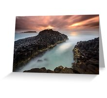 """Obsidian"" ∞ Fingal Head, NSW - Australia Greeting Card"