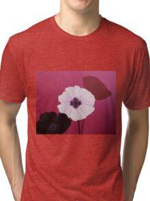 Ornamental Poppies in Pink Tri-blend T-Shirt