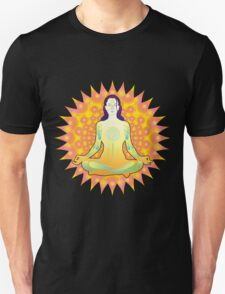 Young woman practicing meditation 1 T-Shirt