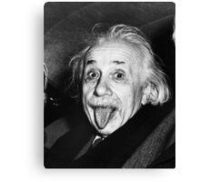 Albert Einstein Tongue Canvas Print