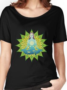 Young woman practicing meditation 4 Women's Relaxed Fit T-Shirt