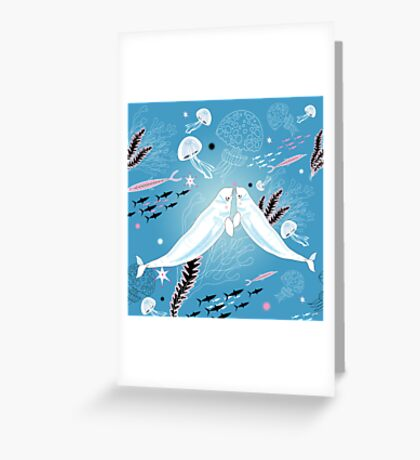 narwhal whale lovers Greeting Card