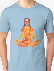 Young woman practicing meditation 5 Unisex T-Shirt