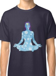 Young woman practicing meditation 6 Classic T-Shirt