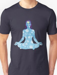 Young woman practicing meditation 6 Unisex T-Shirt