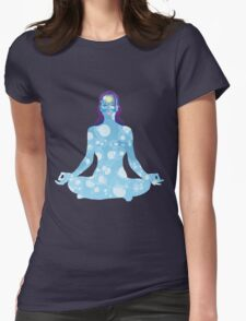 Young woman practicing meditation 6 Womens Fitted T-Shirt