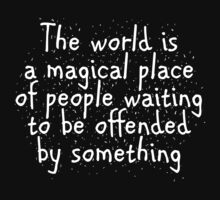 The world is a magical place of people waiting to be offended by something by SlubberBub