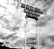 Motel Sign by Mike Sonnenberg
