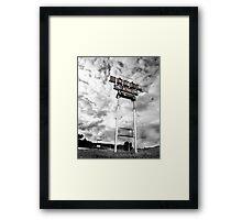 Motel Sign Framed Print
